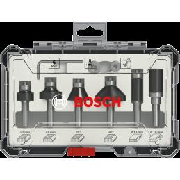 6-teiliges Rand- und Kantenfräser-Set, 8-mm-Schaft