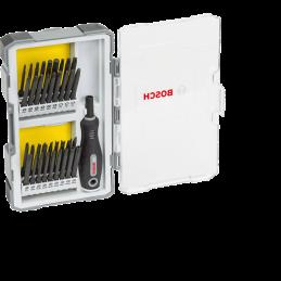 Bosch 37-teiliges Set mit Schrauberbits und Griff, Extra Hard