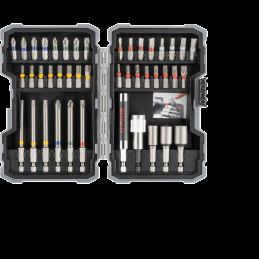 Bosch 43-teilige Sets mit Schrauberbits und Steckschlüsseln, Extra Hard