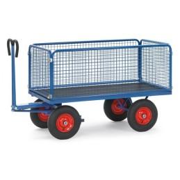 Fetra Handpritschenwagen mit Drahtgitterwänden