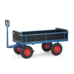 Fetra Handpritschenwagen mit Außenwänden