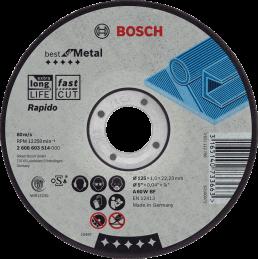 Bosch Trennscheiben Best for Metal 100'er pack