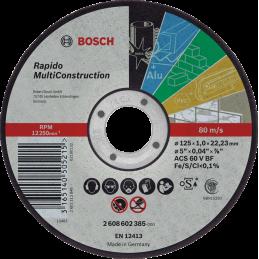 Bosch Trennscheiben Multi Construction – Rapido 100'er pack