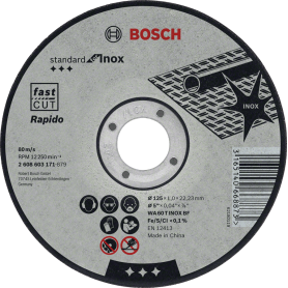 Bosch Trennscheiben Standard for Inox 100'er pack