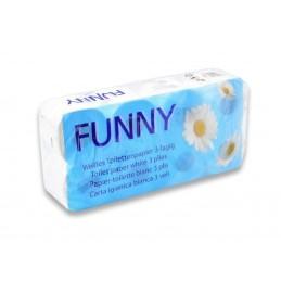 Funny Toilettenpapier 72 Rollen,3-lagig